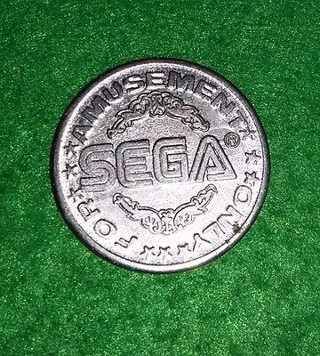 E#13 SEGA systems metal gaming token 23mm For Amusement Only