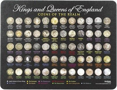 Coins of the Kings and Queens of England mouse mat [KQCMM]