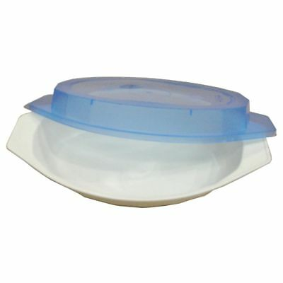 Nordic Ware 60030FS 2-Cup Oval White Casserole Dish With Lid