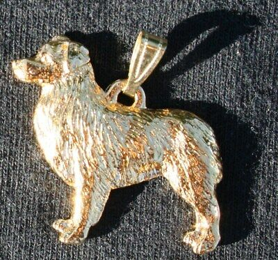 AUSTRALIAN SHEPHERD 24K Gold Plated Pewter Pendant Jewelry USA Made