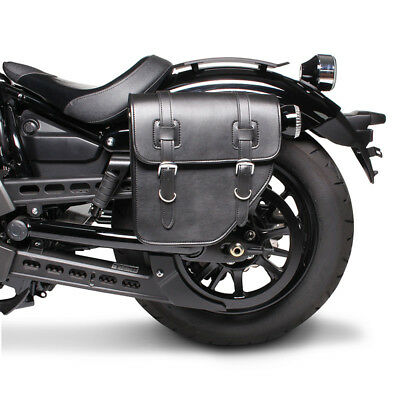Satteltasche Texas Honda Black Widow 750 schwarz links