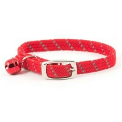 Ancol Softweave Cat Collar - Red - Reflective Elasticated Without Id Tag