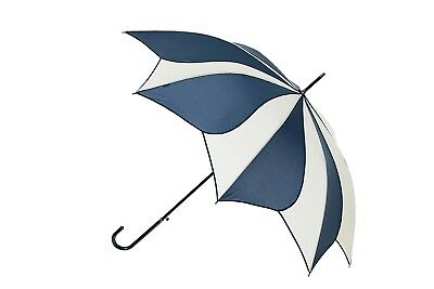 Blooming Brollies Swirl Auto Stick Umbrella - Navy/Cream