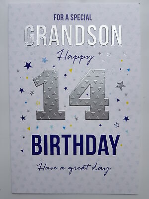 For A Special Grandson Happy 14th Birthday Card