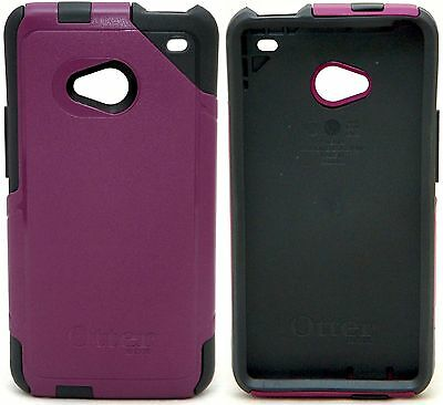 NEW Otterbox HTC One M7 Black/Purple Commuter Series Case Smart Phone Protection