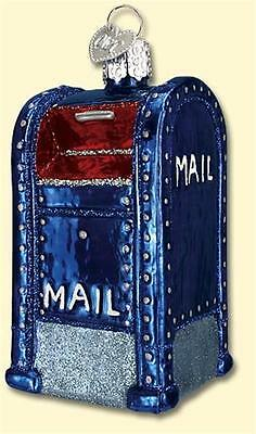 Mail Box Old World Christmas Postal Service Carrier Glass Ornament Nwt 36094