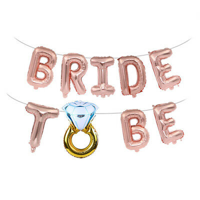 16'' Bride to be Letter Foil Balloons Diamond Ring Balloon For Wedding Party UK