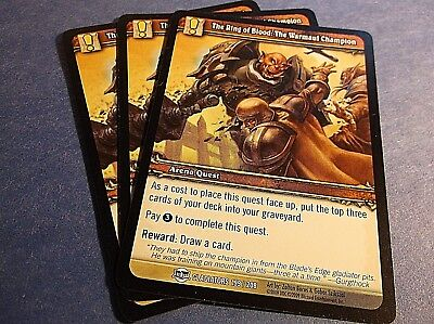 WORLD OF WARCRAFT: The Ring of Blood: The Warmaul Champion 3 cards NM (NEW!)