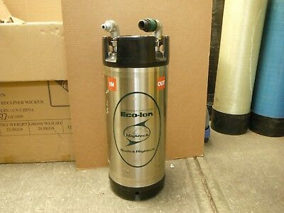 """(1) SODICK Ion Exchange Resin Bottle HIGHTECH ECO-ION 9"""" DIA. 22"""" TALL 18 LITER"""