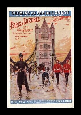 Dr Jim Stamps  Postcard Paris To London By La Sare Train Station