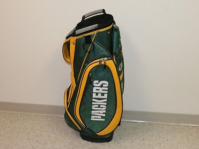 "Green Bay Packers Victory Cart Golf Bag 8"" Mouth 10-Way Top 5 Pocket MSRP $250"