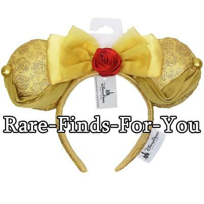 Disney Parks Beauty and the Beast Princess Belle Minnie Mouse Ear Headband (NEW)