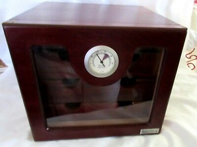 Vector Wooden Dark Mahogany Cigar Humidor 4 Drawer Cabinet with Hygrometer