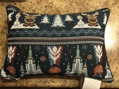 Disney Parks Frozen Pillow Anna Elsa Olaf 8 Bit New With Tag Epcot Norway Wdw