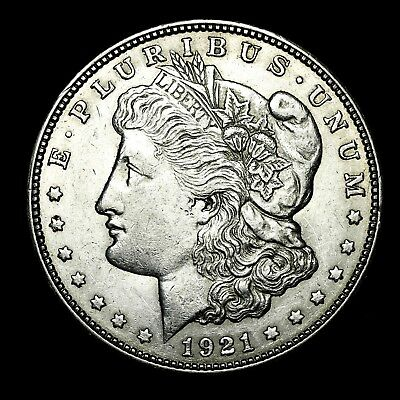 1921 D ~**ABOUT UNCIRCULATED AU**~ Silver Morgan Dollar Rare US Old Coin! #L53