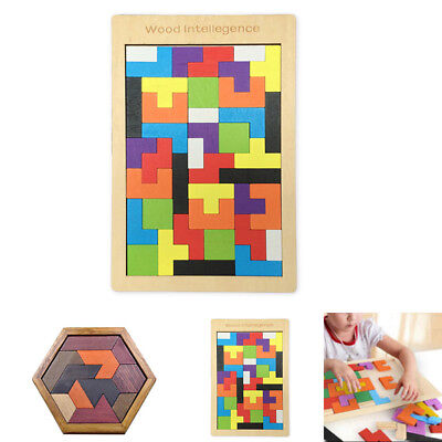 Wooden IQ Game Jigsaw Intelligent Tangram Teaser Puzzle children Educational Toy