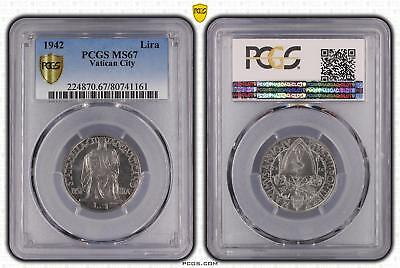 1942 MS67 Vatican City Lira PCGS GRADED FDC UNC