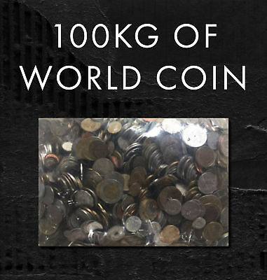 Incredible Bulk Lot Of 100Kg!! Mixed World Coins - Perfect For Noodling