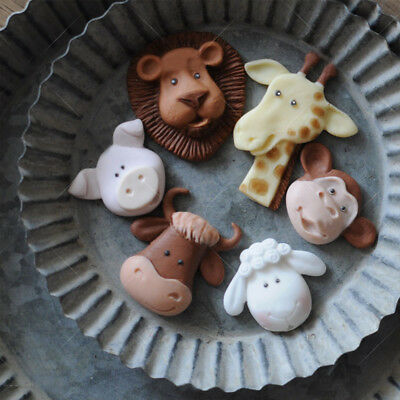 Cartoon Animal Cookie Biscuit Cutter Cake Gum Paste Mold Chocolate Candle Moulds