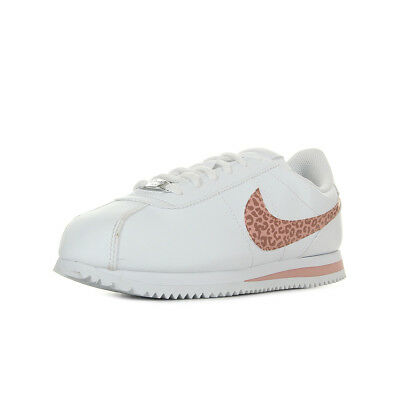 Fille Taille Blanc Chaussures Cortez Baskets Nike Blanche Basic Sl 77S40