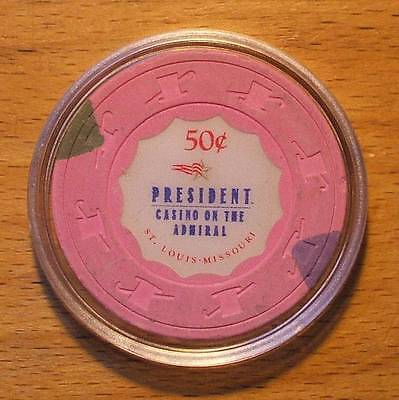 50 Cent President Casino Chip On The Admiral - St. Louis, Missouri