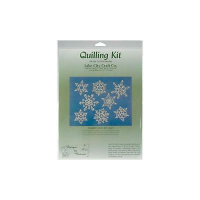 Paper Quilling Kit SNOWFLAKES Winter Holiday Designs Scrapbooking Card Making