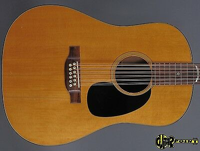 1972 Martin D-1220S Dreadnought 12 String Flattop Guitar - Natural Spruce Top -