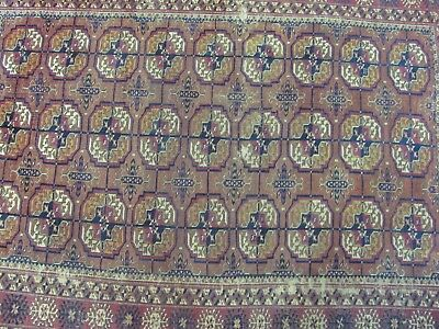 A CHARMING ANTIQUE YAMOUT AFGHAN WOOL ON WOOL RUG (170 x 110 cm)