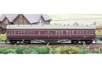 Dapol OO 57ft Stanier Coach 4P-010-006 Composite BR Maroon Lined M19171M
