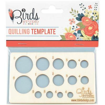 """Paper Quilling TEMPLATE Wood Small 2 3/4"""" x 4 3/4"""" 12 Circles Card Making Crafts"""