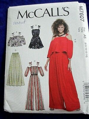 BUTTON UP UTILITY Jumpsuit Romper McCalls Sewing Pattern XS S M 4 6 ...