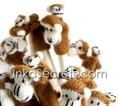 250 Peruvian Finger Puppets / Monkey with baby