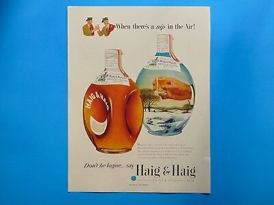 1951 HAIG & HAIG SCOTS WHISKY Don't Be Vague vintage print ad