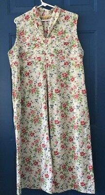 5d0055e061 April Cornell Womens Sleeveless Dress 100% Cotton Floral Flowers size W1  FROCK