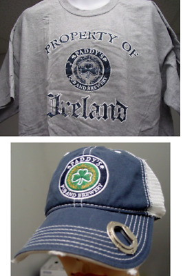Paddy's Pub & Brewery Ireland Bottle Opener Hat & TShirt St Patrick's Day Combo