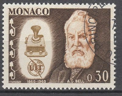 Timbre Monaco Obl N° 669   Uit Telecommunication Graham Bell