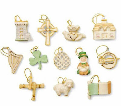 Lenox Luck of the Irish 12 Piece Miniature Tree Ornaments (No Tree) NEW Boxed