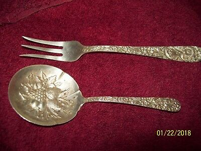 "KIRK/&SON REPOUSSE STERLING SILVER 73.3 BERRY SERVING SPOON 7 1//2/"" NEW VINTAGE S"