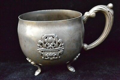 Collectible Chinese Old tibet silver relief butterfly big handwork pot