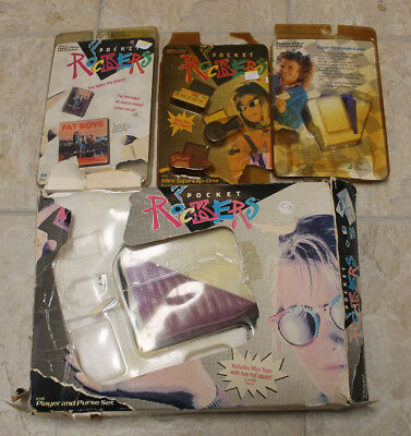 Fisher Price Pocket Rockers Purse & Mini Tape Clip Ons & Fat Boys & Case