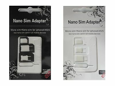 Universal Mobile Phone Tablet Sim Card Adapter Nano Micro Needle Mini Reader