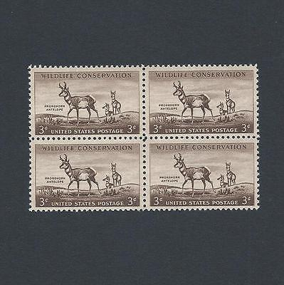 Wildlife Conservation: Pronghorn Antelope 62 Year Old Mint Set of 4 Stamps!