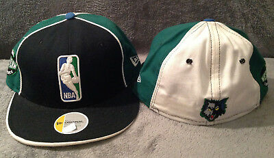 save off 9faa1 f32c5 Minnesota Timberwolves NBA New Era 59FIFTY Fitted Hat Black Green White  Size 7