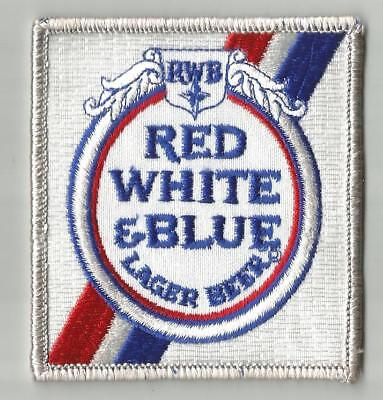 """Red White & Blue Beer Uniform  Patch  3 1/8"""" X 3 3/8"""""""