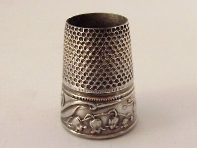 Antique Silver Thimble With No Top Ref 320/8