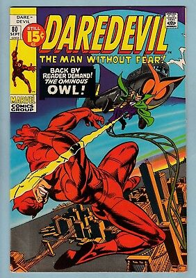 Daredevil # 80 Vfn- (7.5)  Owl Appearance - Glossy Higher Grade Us Cents Copy