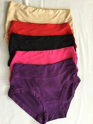 2 Pairs Colourful Bamboo Knickers Briefs Antibacterial Moisture Absorbing Soft