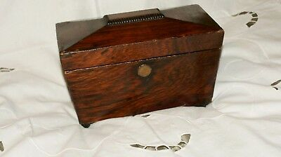 Rosewood Sarcophagus Tea Caddy with vintage jewellery.