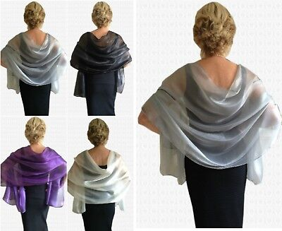 Exquisite Fine ORGANZA Shawl for Wrap for WEDDINGS Evening and PARTY TIME!