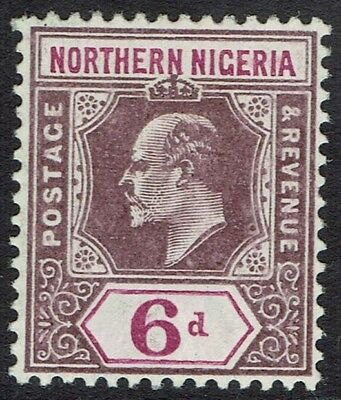 Northern Nigeria 1905 Kevii 6D Wmk Multi Crown Ca